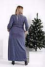 Максі плаття, яке приховує фігуру великого розміру 42-74. 0964-2, фото 4
