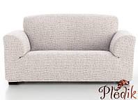 Чехол на диван натяжной 4-х местный Испания, Andrea Beige Андреа бежевый
