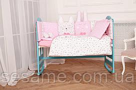 Комплект постельного белья для новорождённых Добрый Сон «Кися-Зая» розовый 2-02