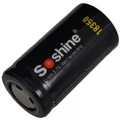 Аккумулятор литиевый Li-Ion 18350 Soshine 3.7V (1000mAh), незащищенный
