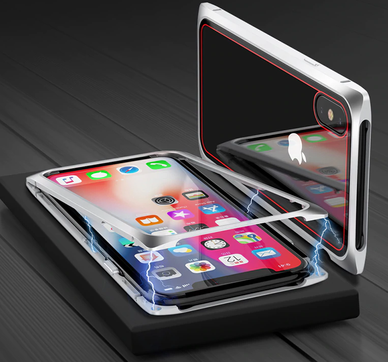 Магнитный Чехол для iPhone 8 Red Black