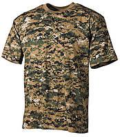 Армейская футболка USA, кам. digital ле 100 % cotton