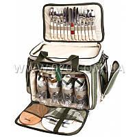 """Набор для пикника Ranger """"Скаут"""" HB4-533 (посуда на 4 персоны + сумка с термо-отсеком)"""