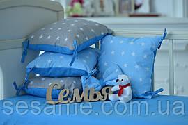 """Защита в кроватку Добрый Сон от комплекта """"Bravo 2"""" 12 шт. серо-голубой 03-04-01"""