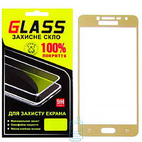 Защитное стекло (захисне скло) Full Screen Samsung Grand Prime G530, J2 Prime G532 золотое Glass