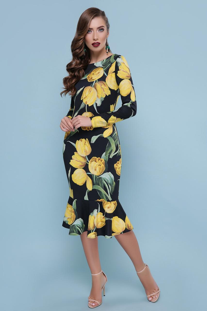 45f740cb06e Тюльпаны Желтые Платье Фаина Д р M