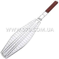 Решетка для гриля (рыбы) двойная GRILL ME BQ-038 (14х40см), хромированная