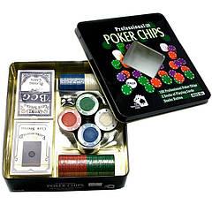 Набор для покера (2 колоды карт, 100 фишек, 19.5х20.5х5см)