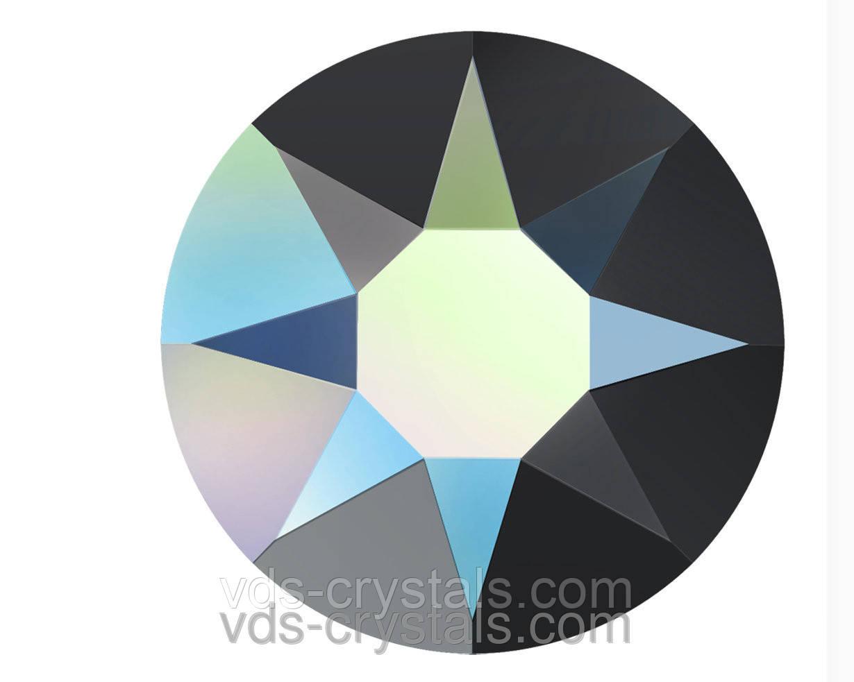 Камені Сваровські клейові холодної фіксації 2088 Jet AB 12ss (упаковка 1440 шт)