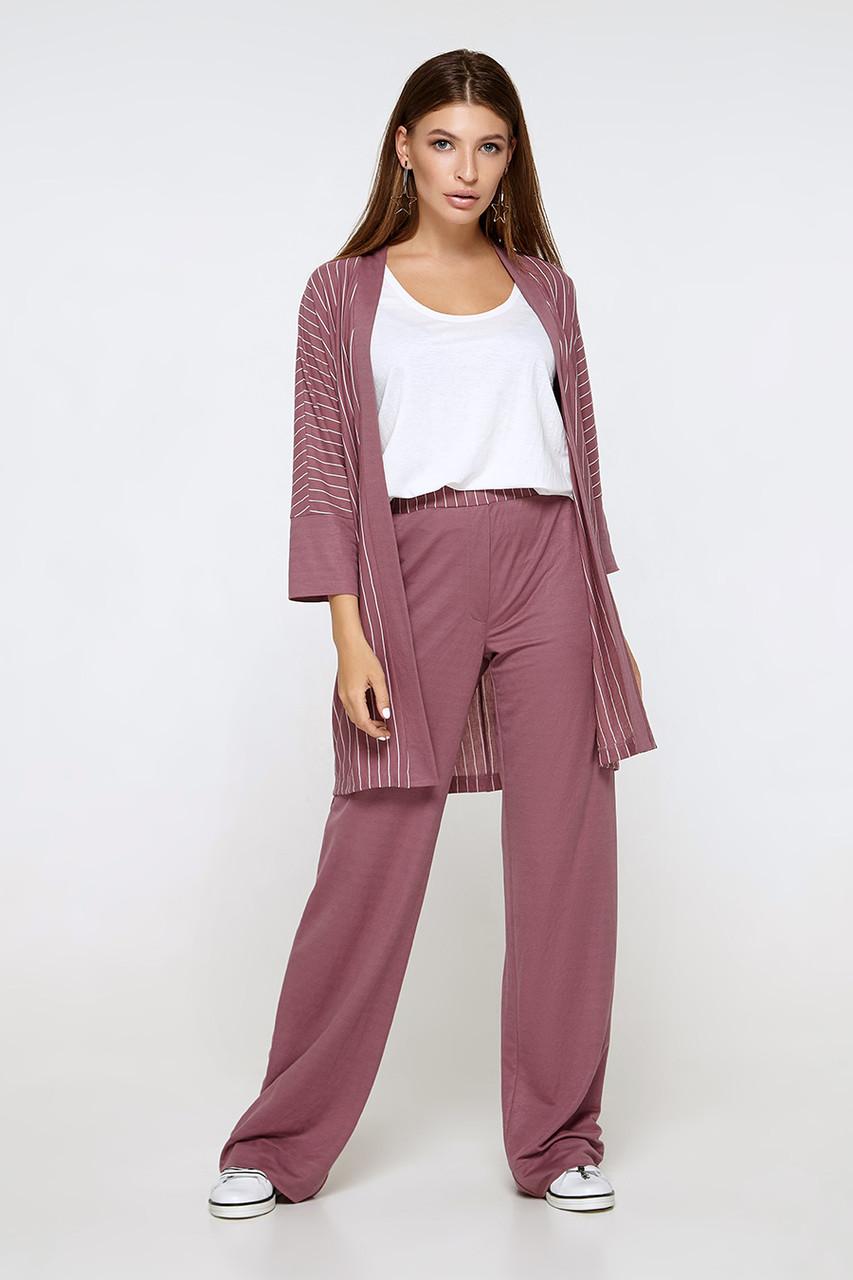 2160 костюм 3-ка брюки Таура, темно-розовый (S)