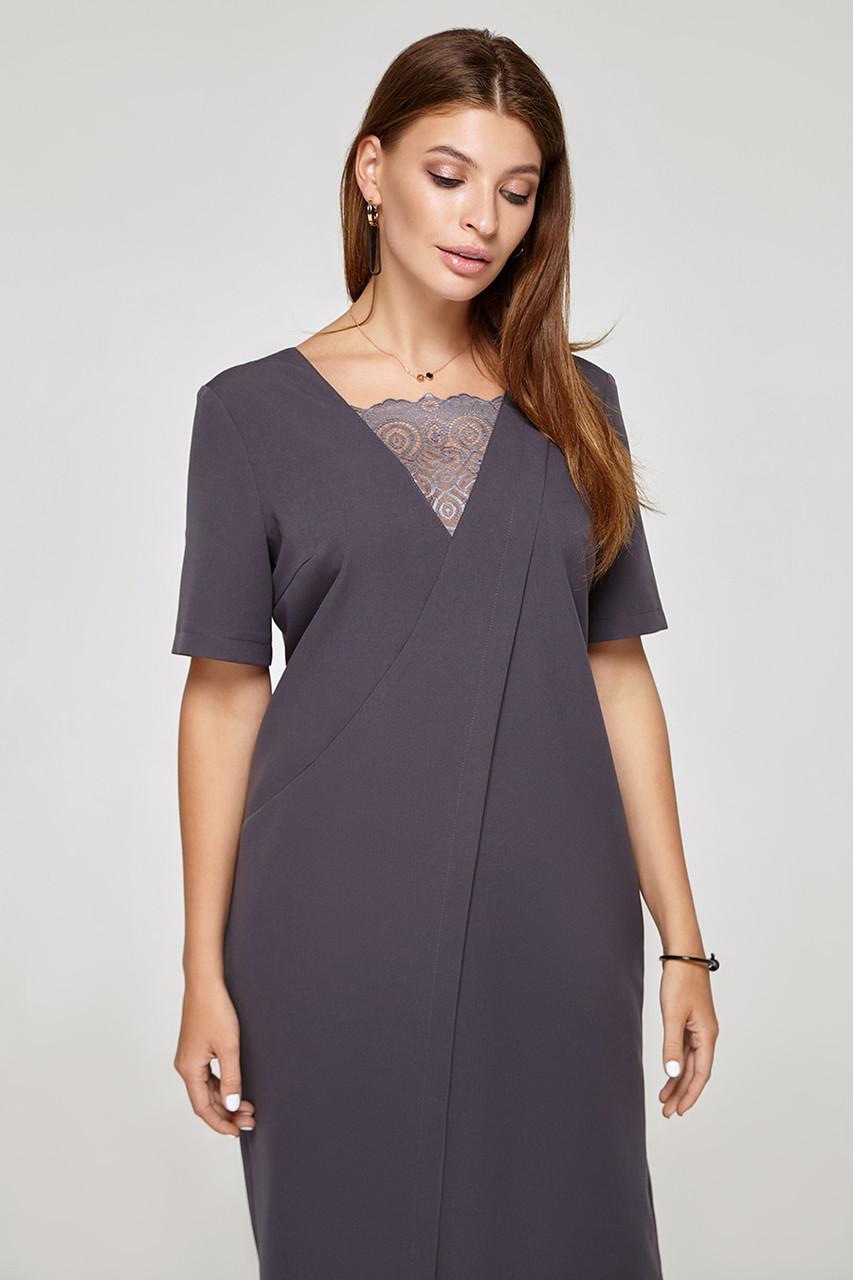 2319 платье Аманда, серый (S)
