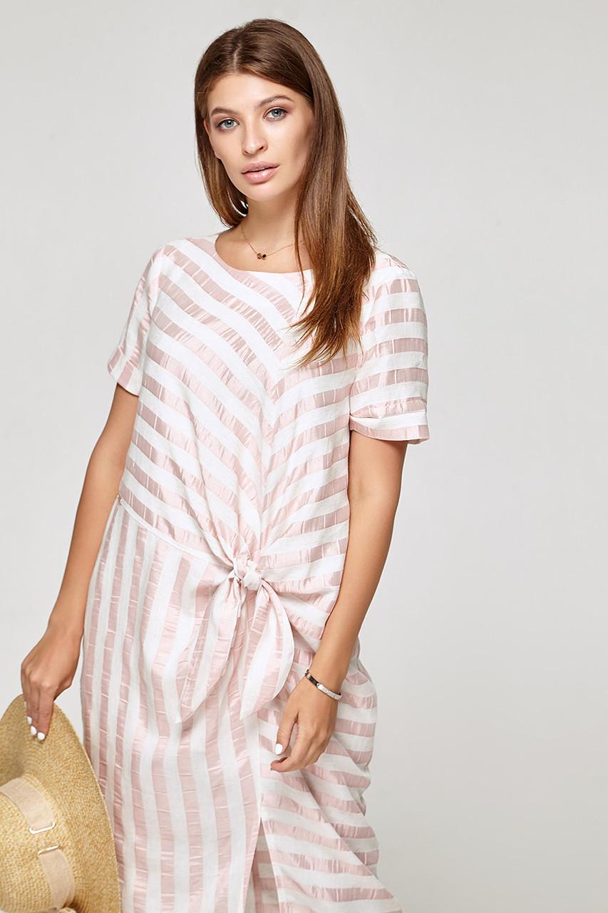 2324 платье Коут, полоса розовый (S)