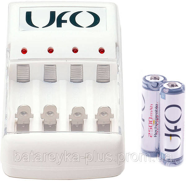 Зарядное устройство UFO KN-8003 + 2 аккумулятора UFO HR6 Ni-MH 2500mAh PHOTO