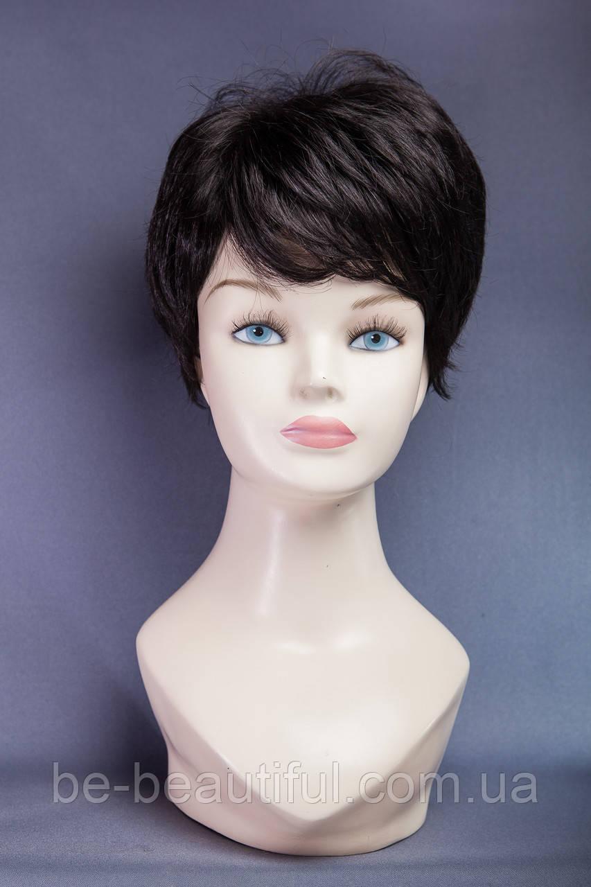Короткий парик,цвет черный натуральный