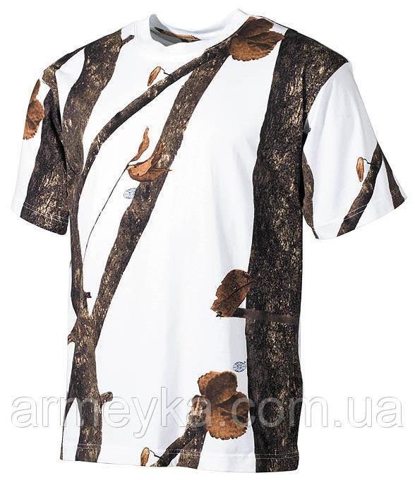 Армейская футболка USA, охота-снег, 100 % cotton