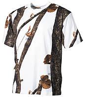 Армейская футболка USA, охота-снег, 100 % cotton, фото 1