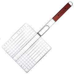 Решетка для гриля двойная GRILL ME BQ-035 (25х24см), хромированная