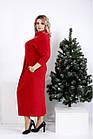 Червоне плаття-мішок трикотажне великого розміру 42-74. 01005-2, фото 3