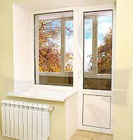 Балконные  двери металлопластиковые ПВХ