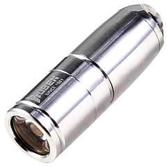 Фонарь Wuben G340  (Cree XP-G2, 130 люмен, 2 режима, USB) с цепочкой, нержавеющая сталь