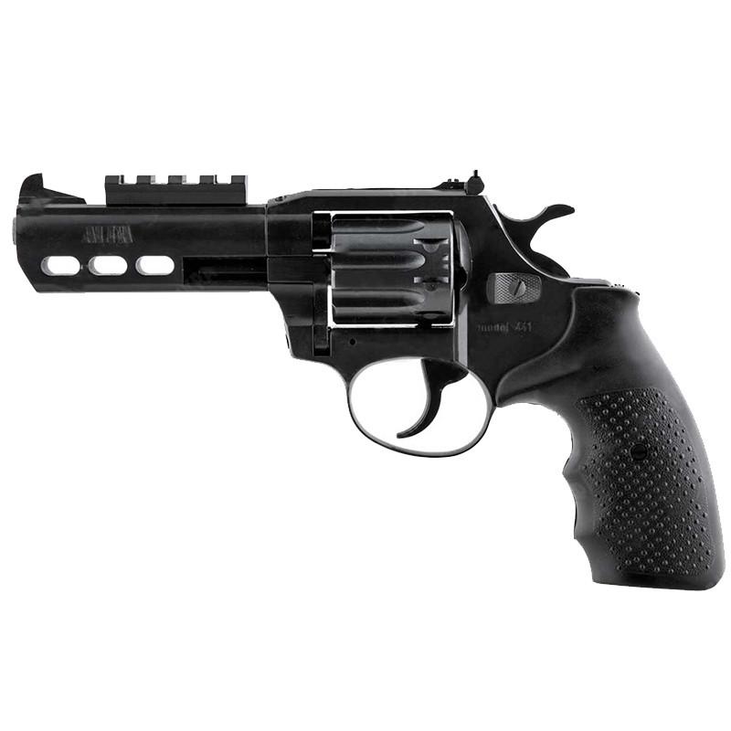 """Револьвер под патрон Флобера, нарезной Alfa 441 Tactical (4"""", 4.0мм), ворон-пластик"""