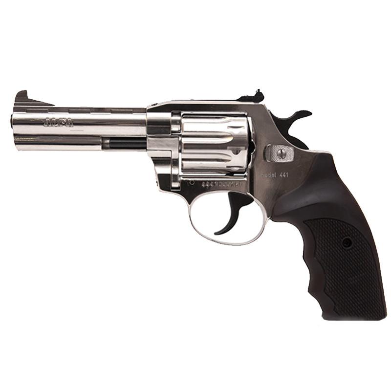 """Револьвер під патрон Флобера, нарізний Alfa 441 (4"""", 4.0 мм), нікель-пластик"""