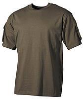 Тактическая футболка USA, олива, 100% cotton