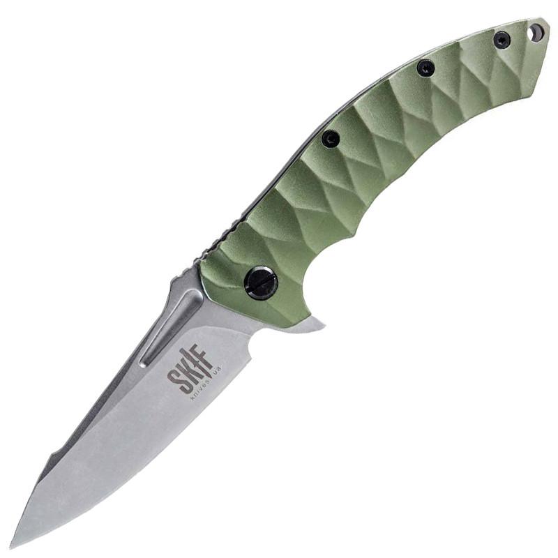 Нож складной Skif Shark 421G (длина: 217мм, лезвие: 94мм), оливковый