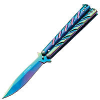 Нож бабочка Boker Magnum Balisong Rainbow (длина: 225мм, лезвие: 102мм), стальной