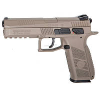 Пистолет пневматический ASG CZ P-09 Pellet FDE Blowback (4,5mm), tan