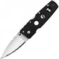 Нож складной Cold Steel Hold Out III Serrated Edge серрейтор (длина: 174мм, лезвие: 76мм), черный
