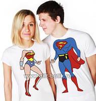 Парные футболки Супер Семья