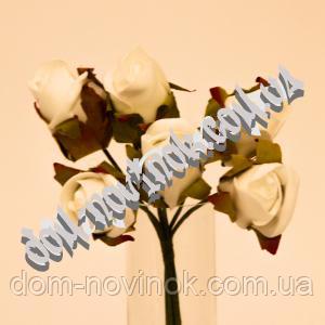 Букет роз белых в наборе (6 шт)