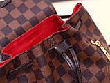 Рюкзак Луи Витон мини Sperone Damier Enen, кожаная реплика, фото 4