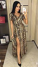 Платьедлинное с разрезом, №124, золотаязмея, фото 2