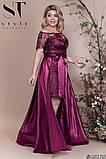 Шикарное женское вечернее платье со съемной юбкой  48,50,52р.(5расцв) , фото 10