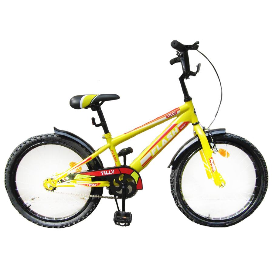 """Велосипед двухколесный TILLY FLASH 18"""" T-21845 yellow"""