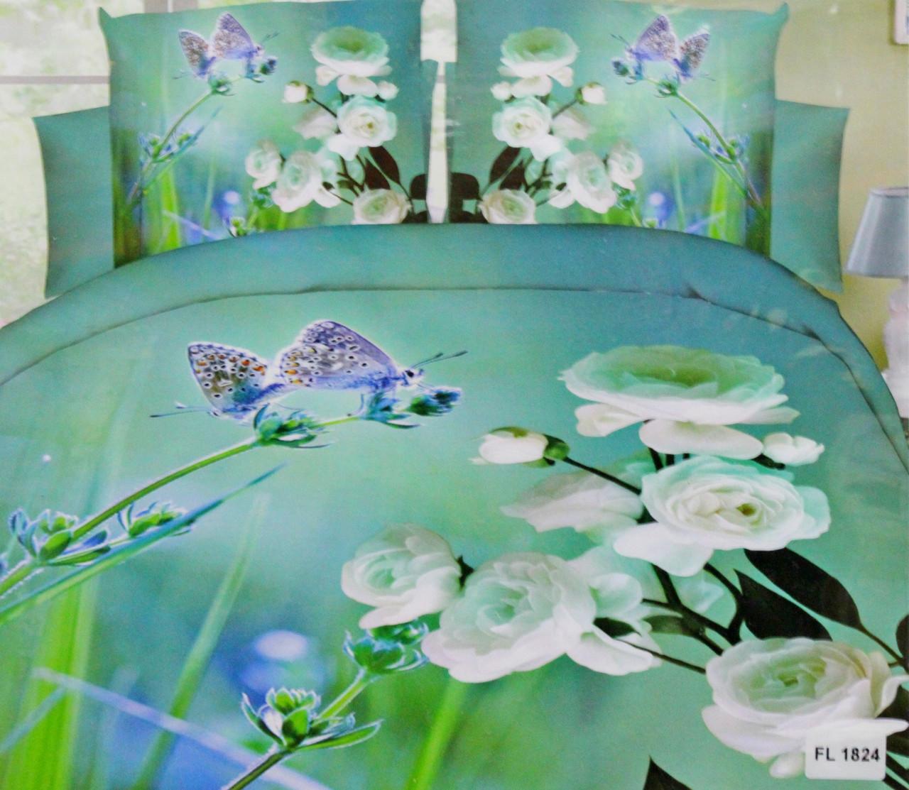 Комплект постельного белья микрофибра Florida 5D Sateen 200х220  FL 1824