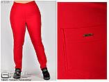 Літні жіночі штани великого розміру 50-60, фото 6