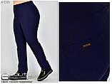 Літні жіночі штани великого розміру 50-60, фото 4