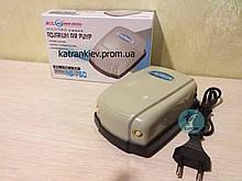 Двухканальный компрессор NS-750 для аквариума до 500 л с регулировкой