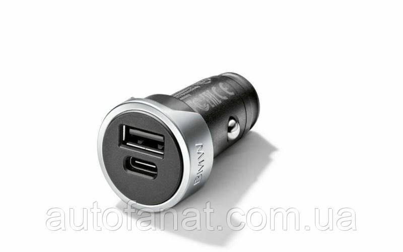 Оригинальное зарядное устройство BMW Dual Charger USB/Type-A and Type-C (65412458286)