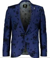 Noose & Monkey .Стильний брендовий чоловічий піджак синього кольору.