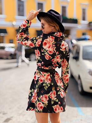 Модное летнее платье клеш Черный, фото 2