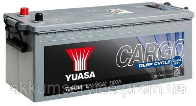 Аккумулятор грузовой YUASA Cargo Deep Cycle 140AH 3+ 815А (727GM)
