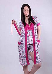 """Халат с пижамой """"Совушка"""" р.42-50"""