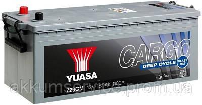 Аккумулятор грузовой YUASA Cargo Deep Cycle 185AH 3+ 1150А (729GM)