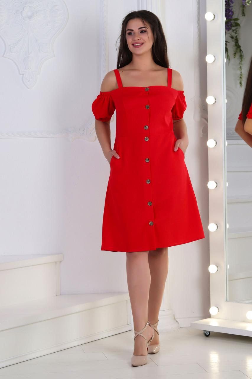 Платьелён, № 125, красное
