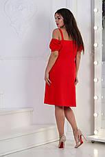 Платьелён, № 125, красное, фото 2