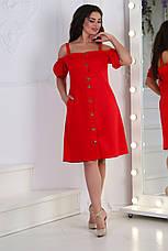 Платьелён, № 125, красное, фото 3